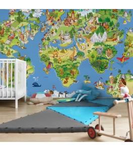 Kunterbunte Weltkarte //...
